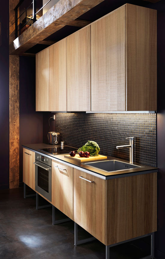 Small Open Kitchen Storage