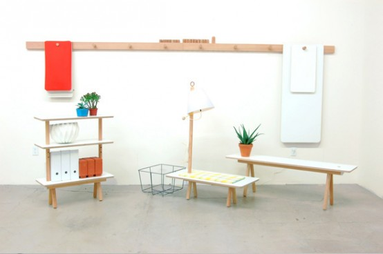 Flexible Furniture System Made Of Simple Components