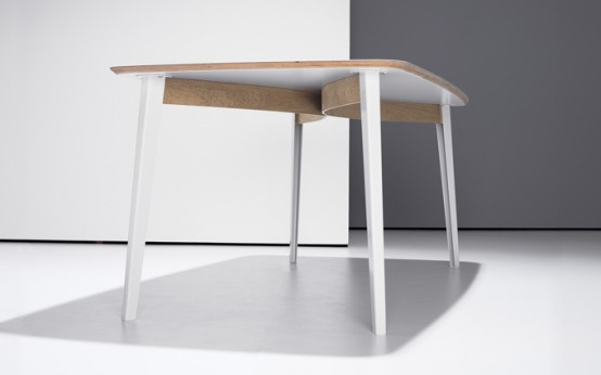 Flexible Modern Desk And Dining Table In One