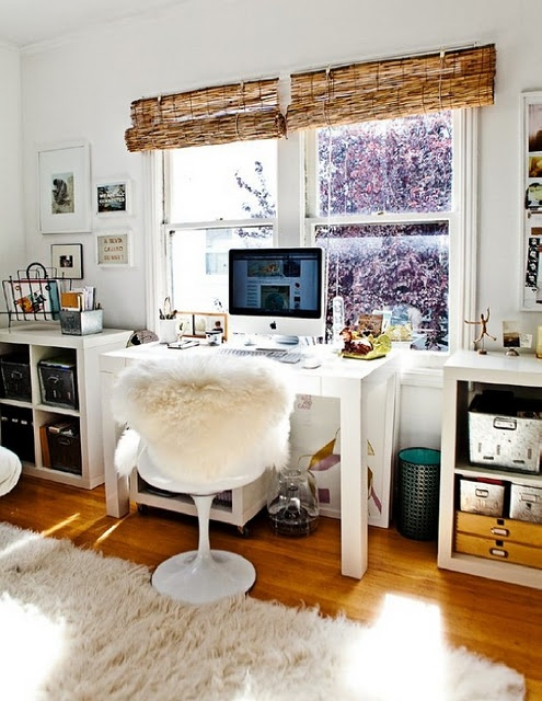 40 floppy but refined boho chic home office designs digsdigs for Chic office ideas