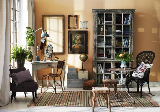 Floppy But Refined Boho Chic Home Offices