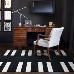 flor carpet tuxedo stripe bw