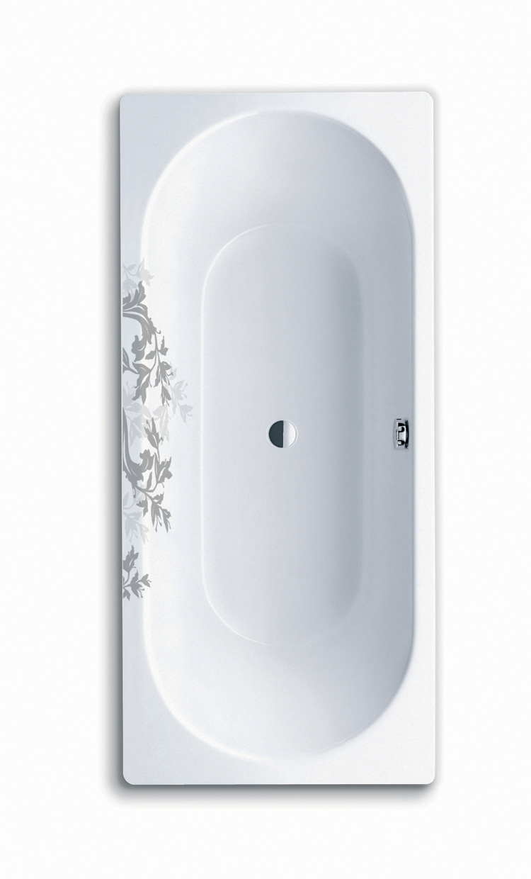 Bathtubs with Floral Ornament - Lilie from Kaldewei - DigsDigs