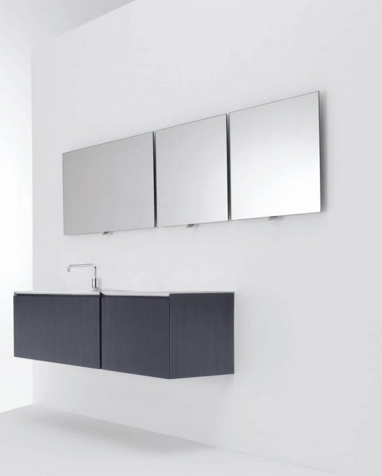 Minimalist Functional Bathroom Furniture – Flow and Soft from Cosmic