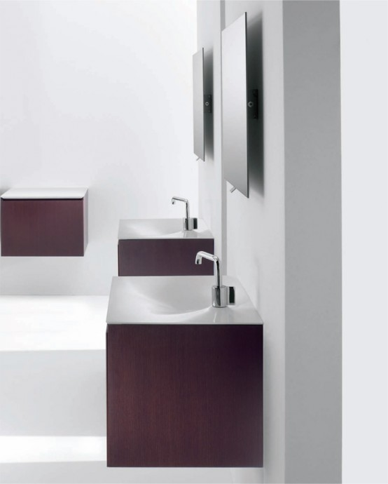 Flow Minimalist Functional Bathroom Furniture