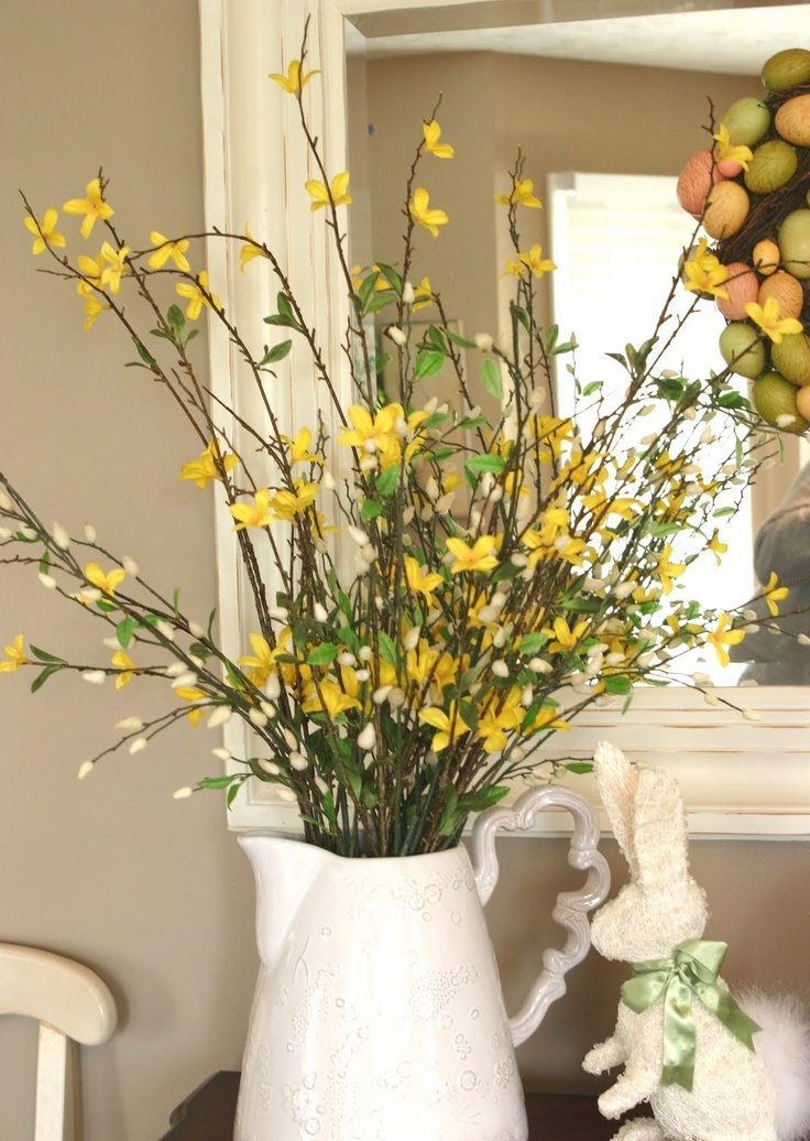 47 flower arrangements for spring home d cor interior for Home decorations with flowers