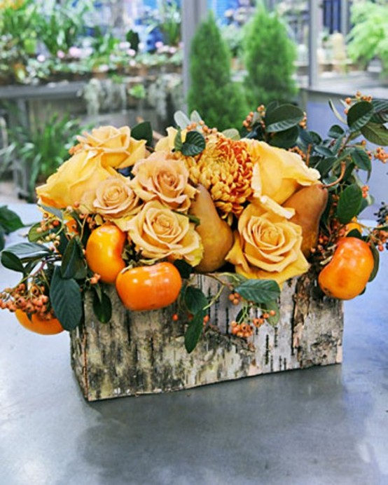 Amazing flower decorations for a thanksgiving table