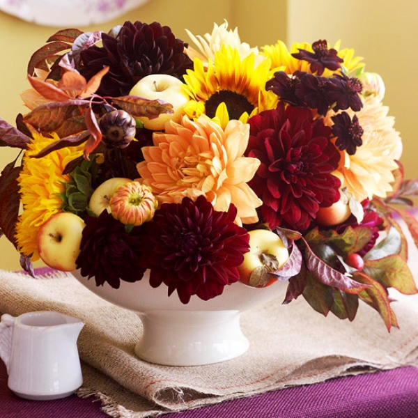 Flower Decorations For Athanksgiving Table
