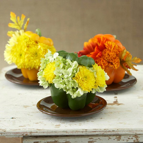 42 amazing flower decorations for a thanksgiving table for Idee deco table automne