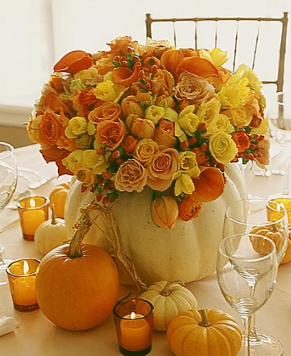 Fall Wedding Ideas Table Decorations: 42 Amazing Flower Decorations For A Thanksgiving Table