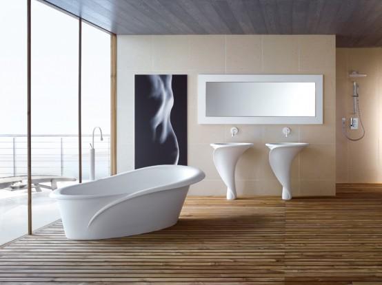 Flower Inspired Bathtub And Basins