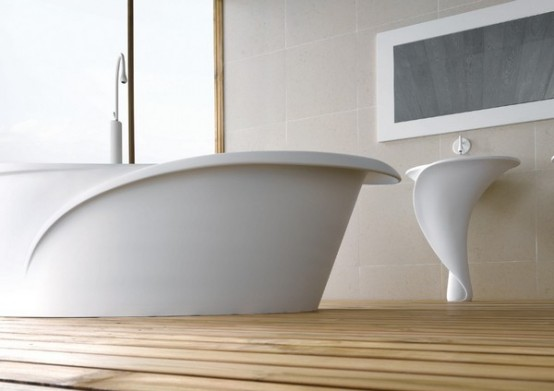 Flower Inspired Bathtub And Basins