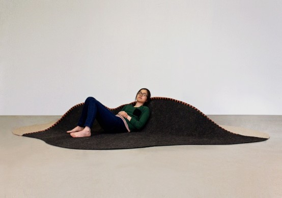Foam Furniture And Mountain-Inspired Chair By Susan Qiu