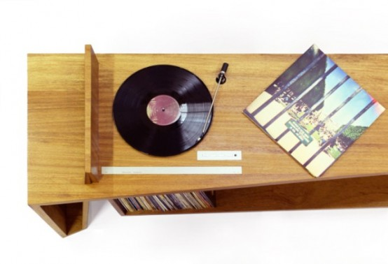 Folded Record Bureau Inspired By A Mid Century Console