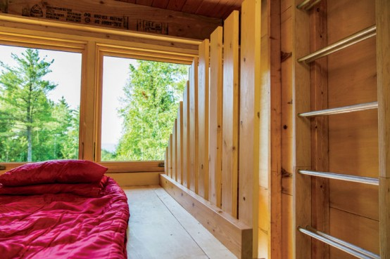 Forest Cabin Combining Small Living And Camping Experience