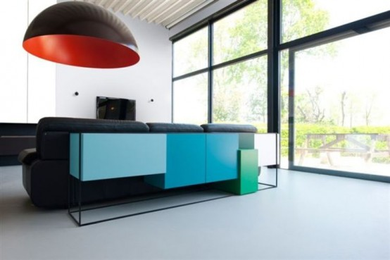 Fashionable Table and Chest Of Drawers In One