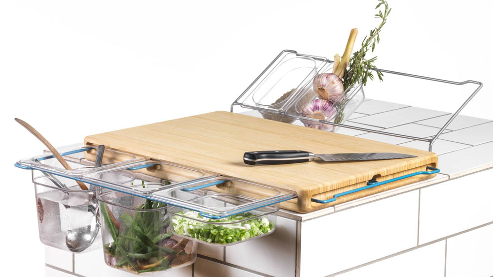 Frankfurter Brett Kitchen Workbench With Storage Space