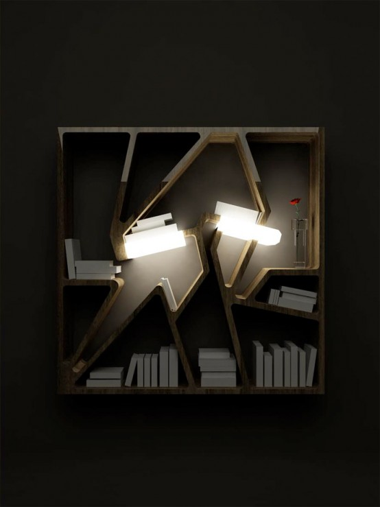 Graffititek – French Bookshelf with Lighting