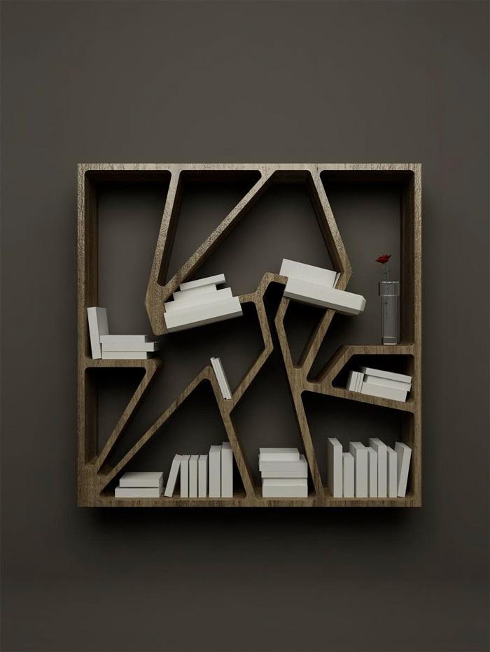 Graffititek french bookshelf with lighting digsdigs for Lighting for interior design book