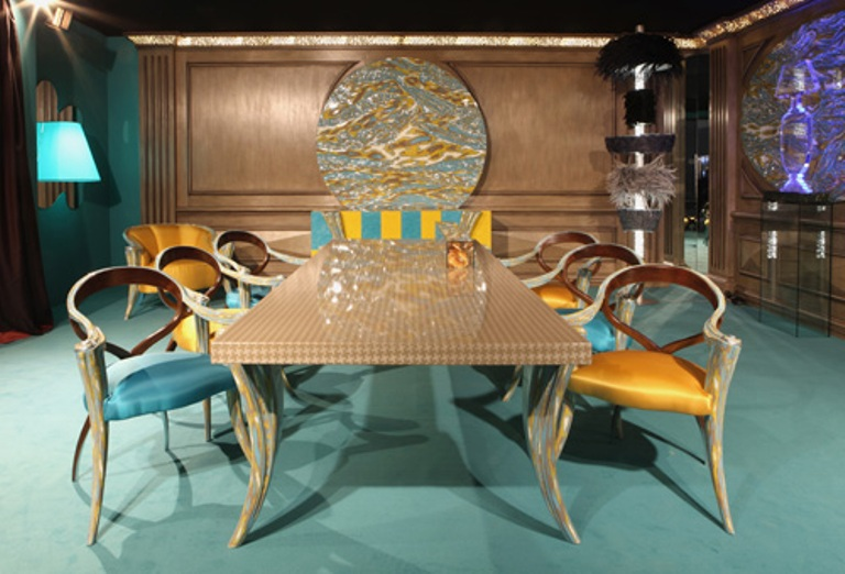 Fresh And Modern Furniture For A Dining Room In Turquoise and ...