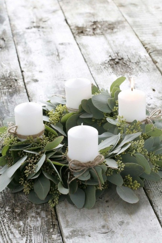 32 original fresh eucalyptus christmas d cor ideas digsdigs. Black Bedroom Furniture Sets. Home Design Ideas