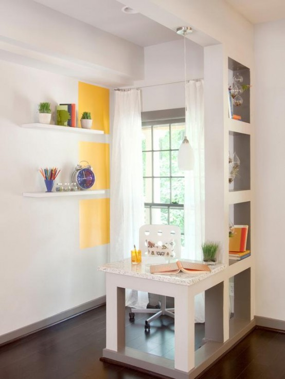 25 Home Office Décor Ideas To Bring Spring To Your Workspace - DigsDigs