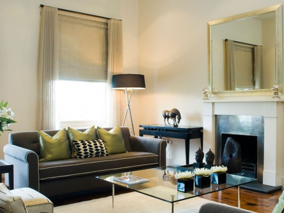 Fresh Living Room Design In Browns And Greens