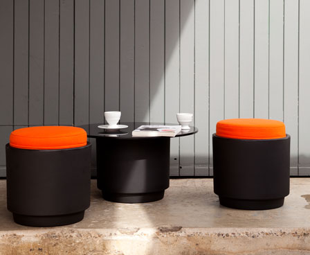 Modern Low Stools and Tables in Fruity Colors – Tingle by Luxxbox