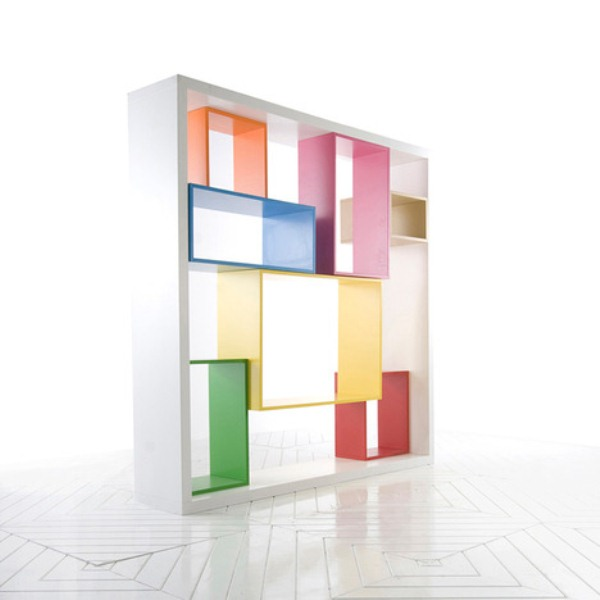 Functional Multidimensional Colorful Shelving Unit