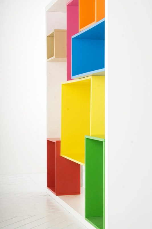 Fucntional Multidimensional Colorful Shelving Unit