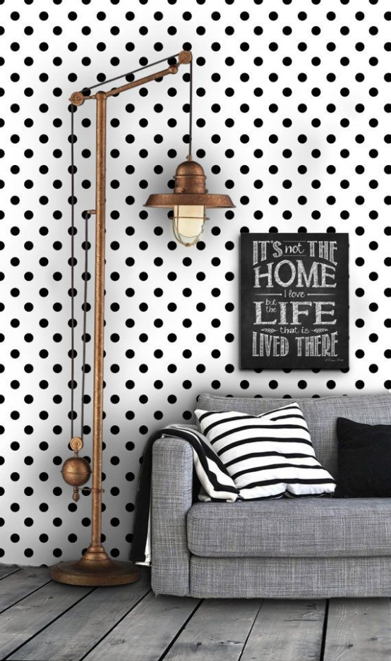 33 Fun And Bright Polka Dot Home Décor Ideas