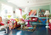 Fun And Colorful Living Room Design