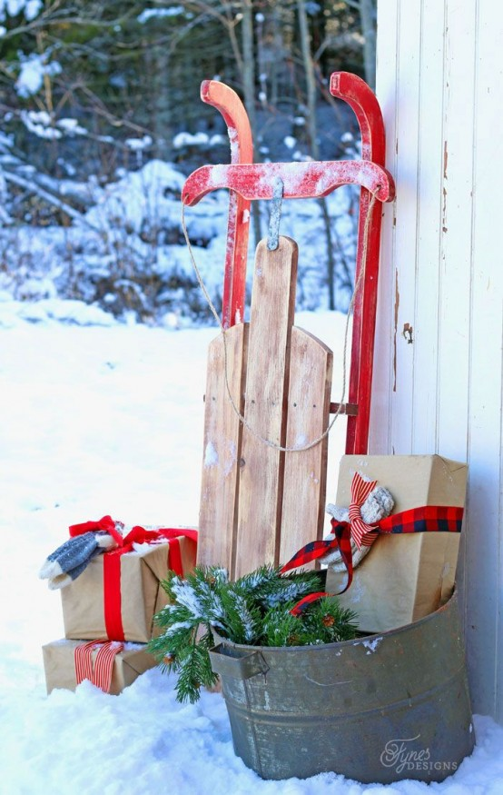 Sled Christmas Tree Stand