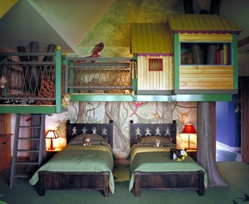 25 fun and cute kids room decorating ideas digsdigs for Cool kids rooms decorating ideas