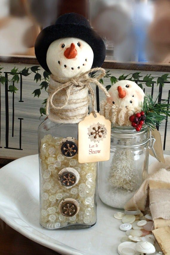 29 fun snowman christmas decorations for your home digsdigs for Home decor christmas decorations