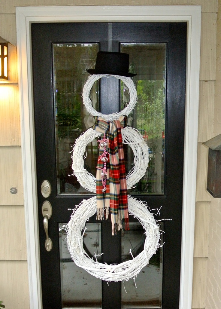 29 fun snowman christmas decorations for your home digsdigs for Cool door ideas