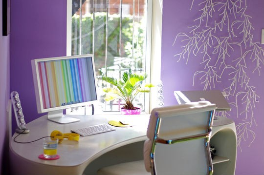 Functional And Colorful Home Office