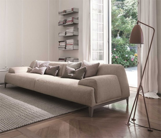 Functional And Comfy Cave Sofa With Flowing Shapes