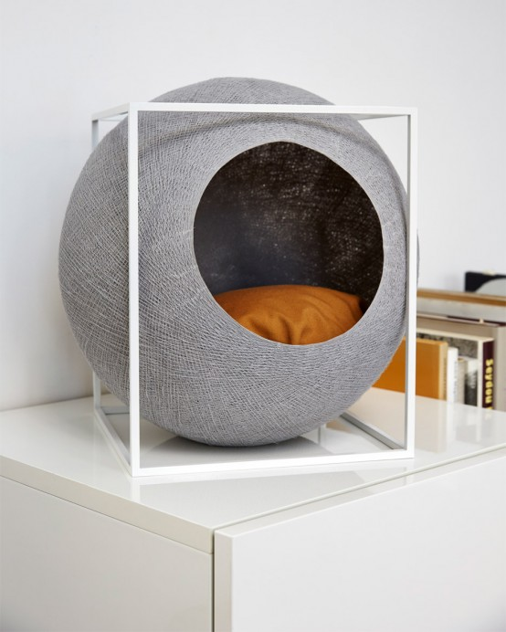 Functional And Elegant Feline Cocoon Furniture