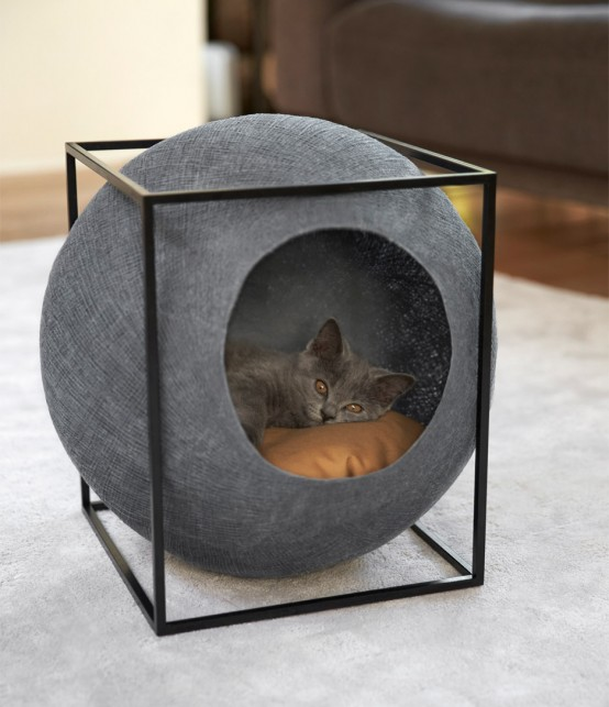 Functional And Elegant Cocoon Feline Furniture
