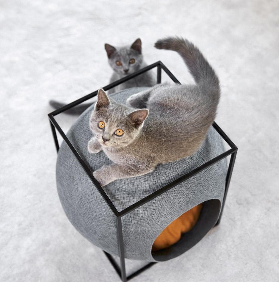 Functional And Elegant Feline Cocoon Furniture