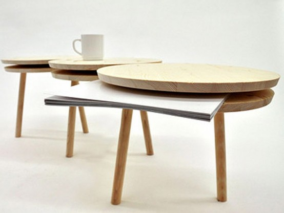 Functional And Space-Saving Pillar Table