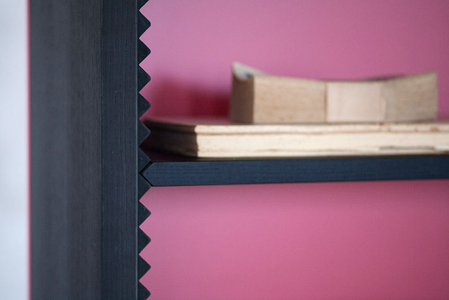 Functional Anything Wooden Shelves With Zigzag Pattern