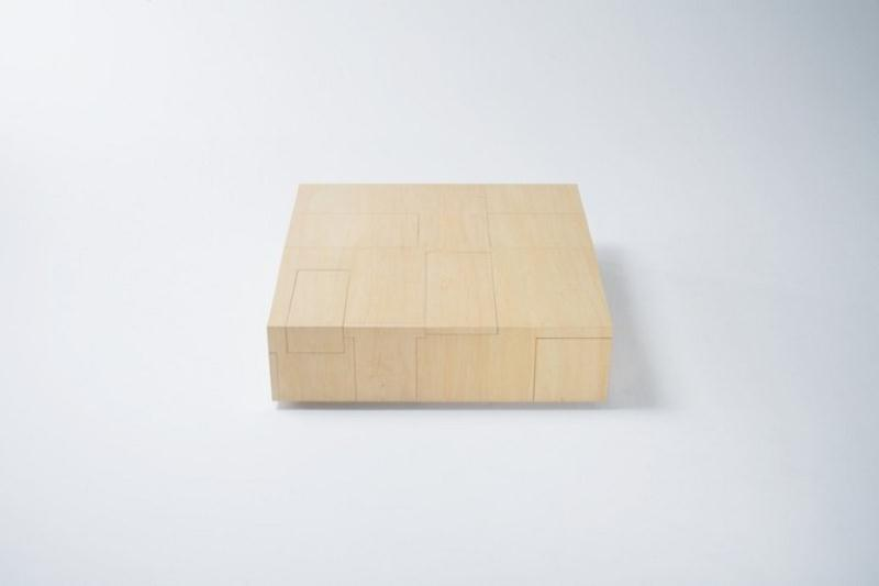 Functional Coffee Table With A Big Storage Space by Naoki Hirakoso