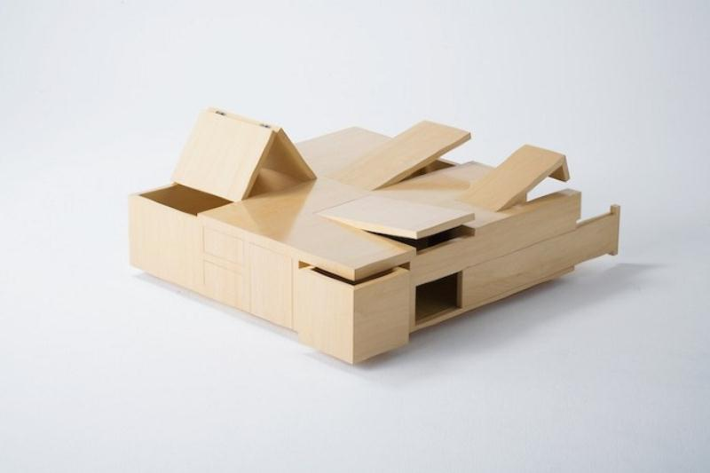 Functional Coffee Table With A Big Storage Space by Naoki