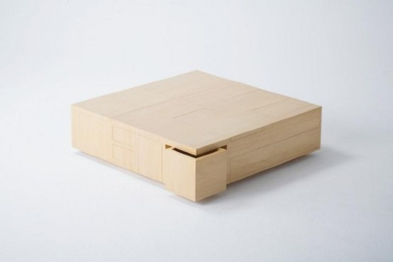Functional Coffee Table With A Big Storage Space