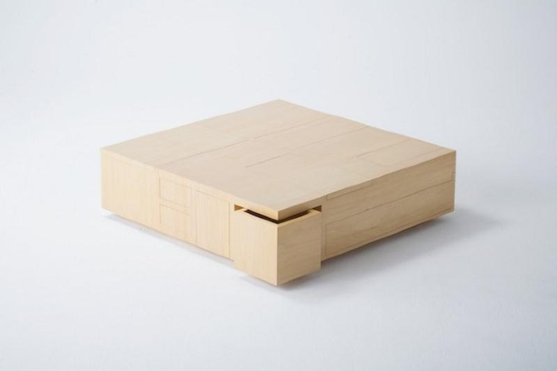Functional Coffee Table With A Big Storage Space By Naoki Hirakoso Digsdigs
