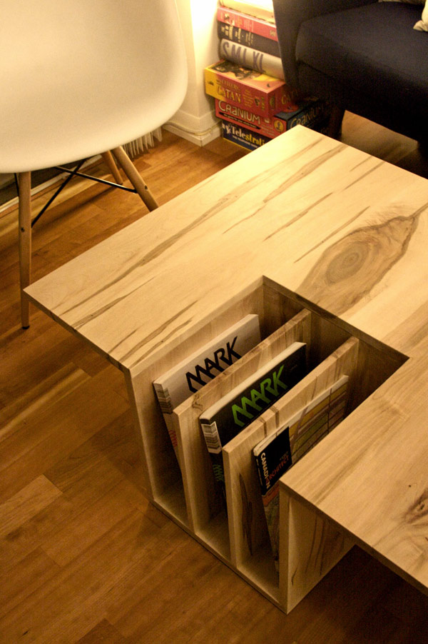 Functional Coffee Table With A Counter