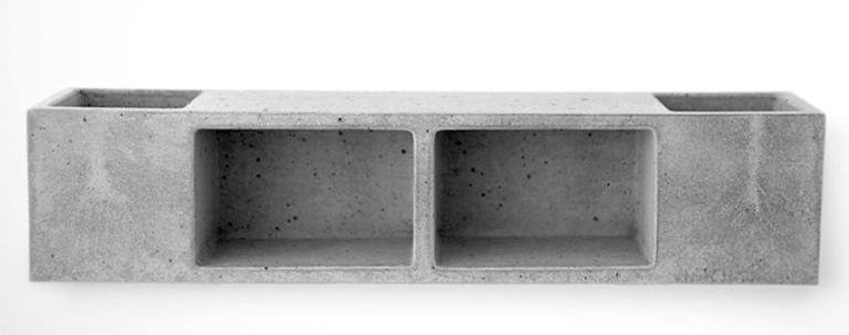 Functional Concrete Bathroom Shelf