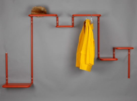 Functional Hall Shelf And Coat Rack